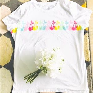 🎀George Bloom Fruit 🍒 Large Size White Top